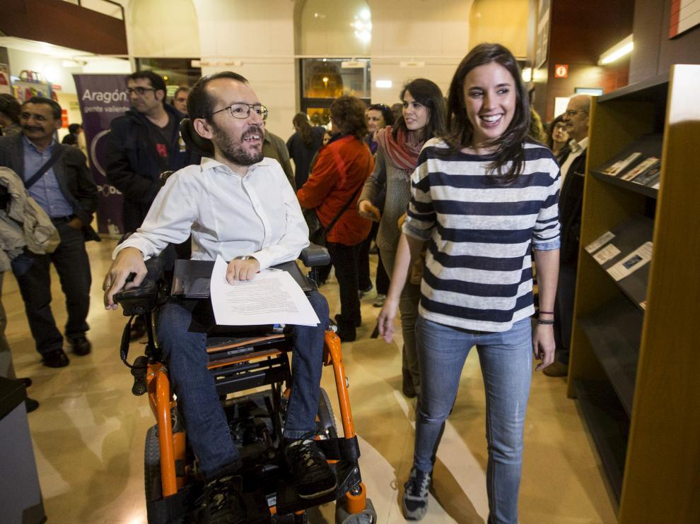 Pablo Echenique e Irene Montero en la Asamblea Ciudadana.