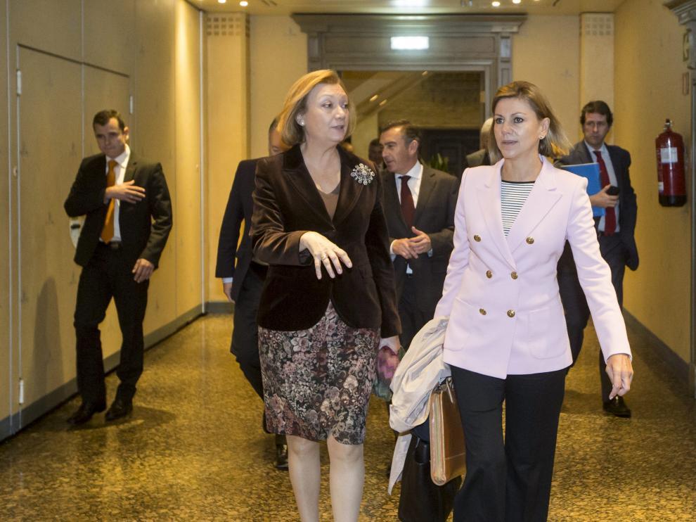 Dolores de Cospedal participa junto a Luisa Fernanda Rudi de la Junta Directiva del PP.