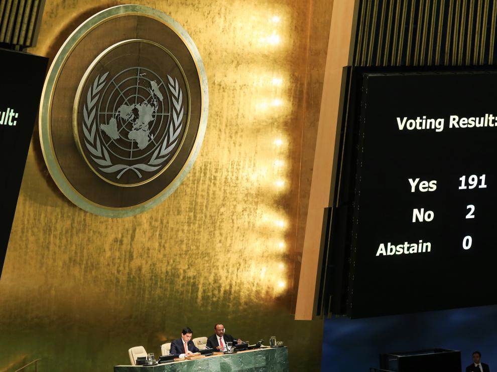 Votación en Naciones Unidas