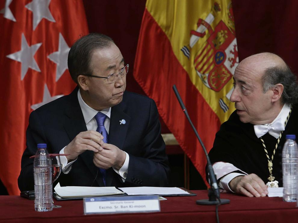 Acto de Ban Ki-moon en la Universidad Carlos III.