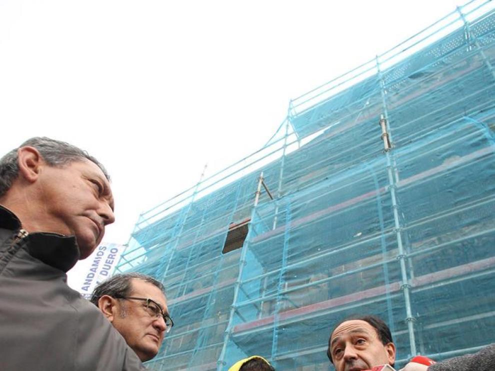 La fachada de la iglesia de Santo Domingo de Soria, considerada una de las joyas del románico español, será examinada en una actuación preventiva impulsada por la Junta
