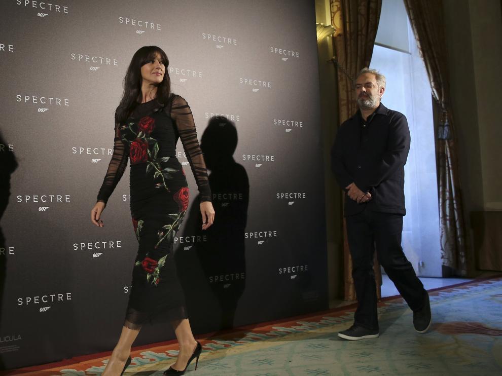 La actriz Monica Bellucci durante la premiere de la nueva de James Bond en Madrid.