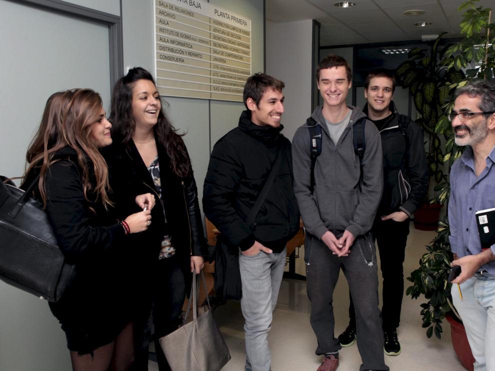 En la foto, varios alumnos de origen francés e italiano.