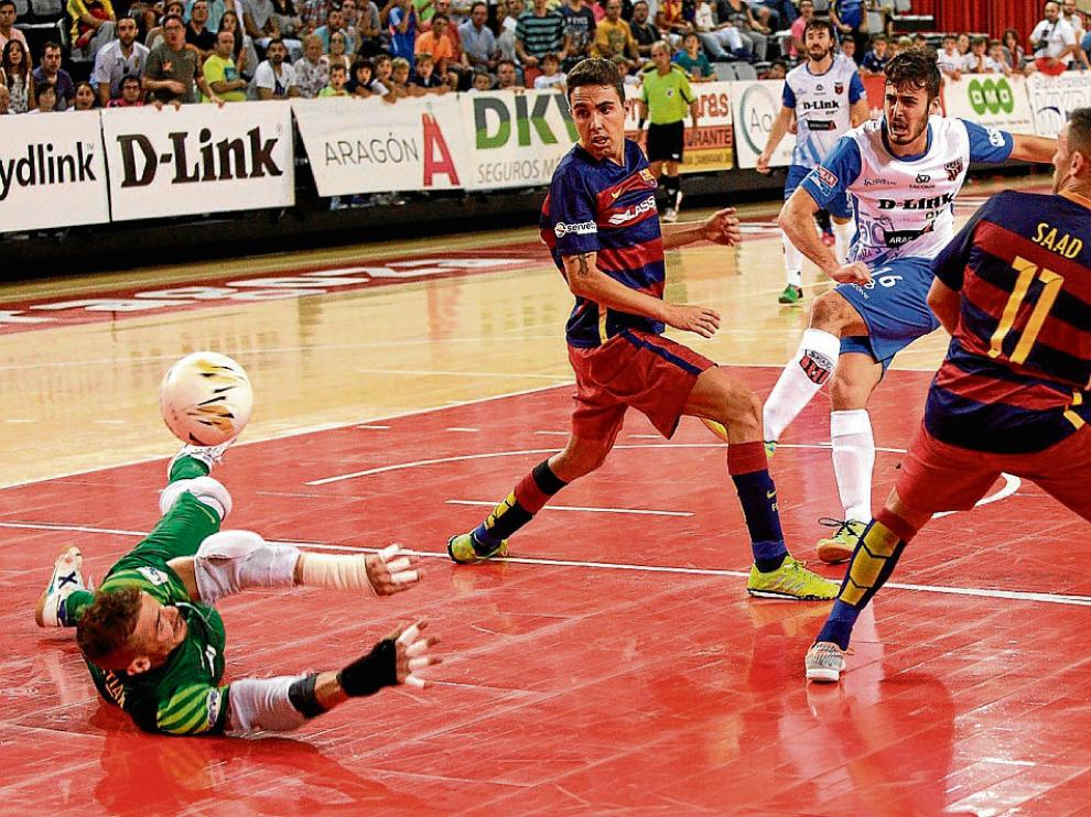 Partido del D-Link Zaragoza y el FC Barcelona de esta temporada.