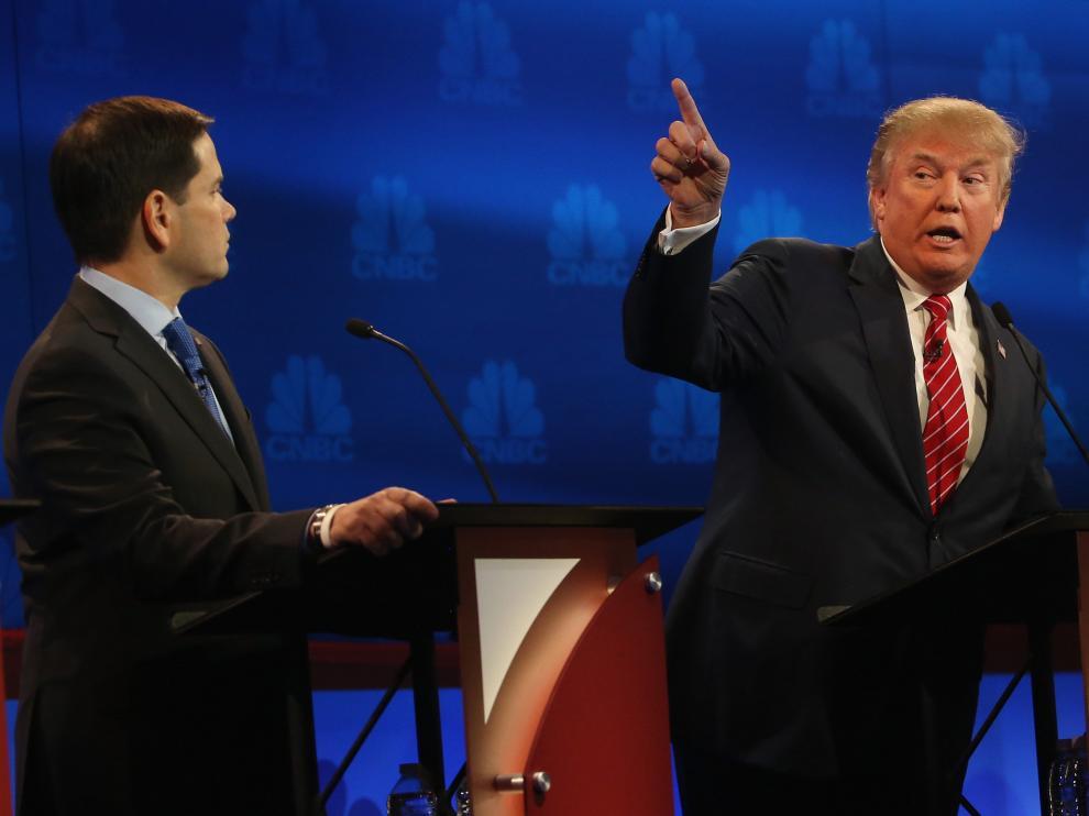 Trump durante el tercer debate televisado.