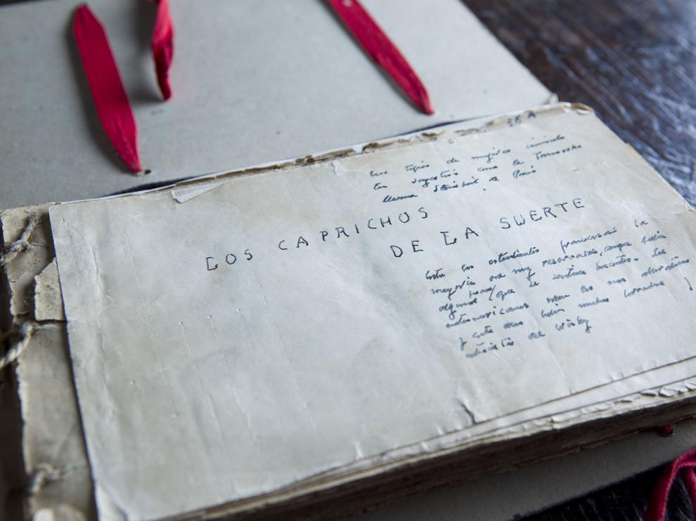 Manuscrito que se guardaba en la casa familiar de los Baroja en Vera de Bidasoa.