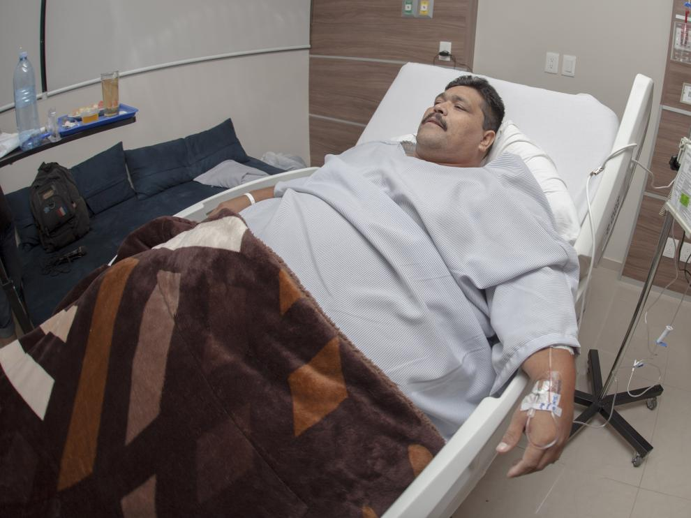 Andrés Moreno, horas antes de ser operado.