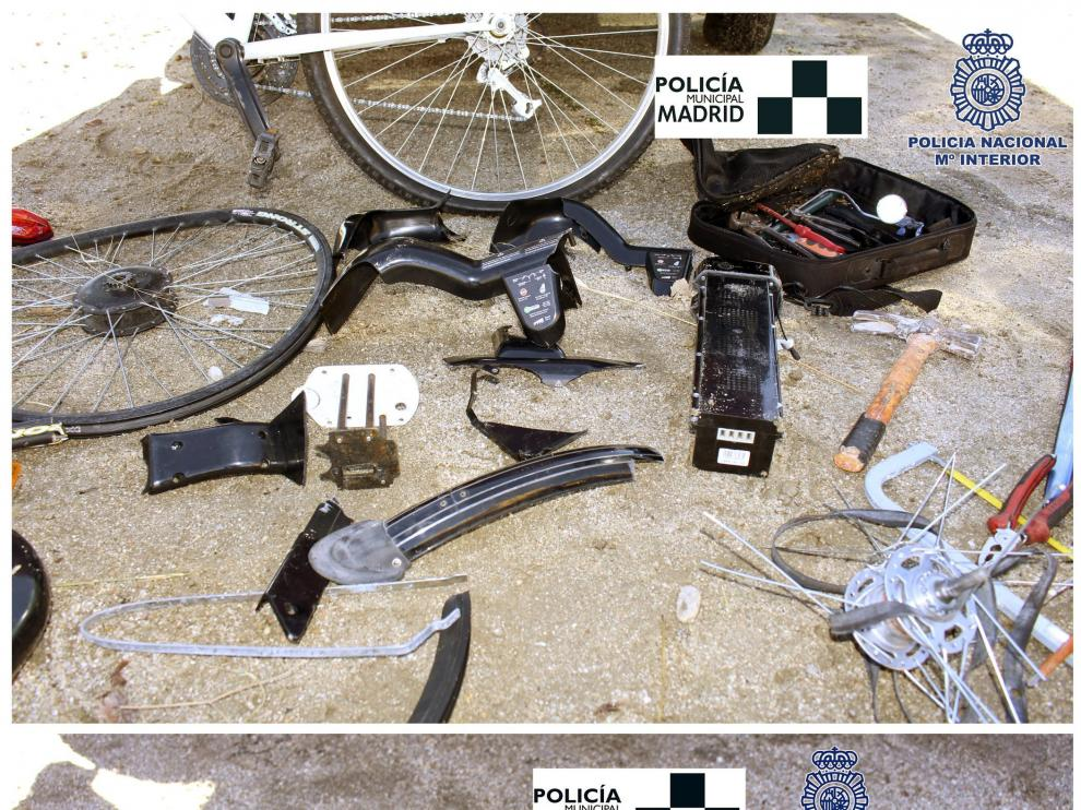 Los delincuentes desmontaban las bicis y vendían sus piezas a terceros.