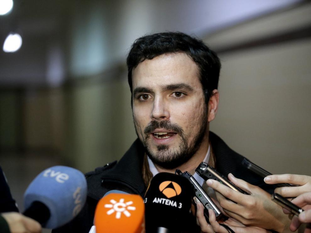 Garzón atendiendo a los medios, imagen de archivo.