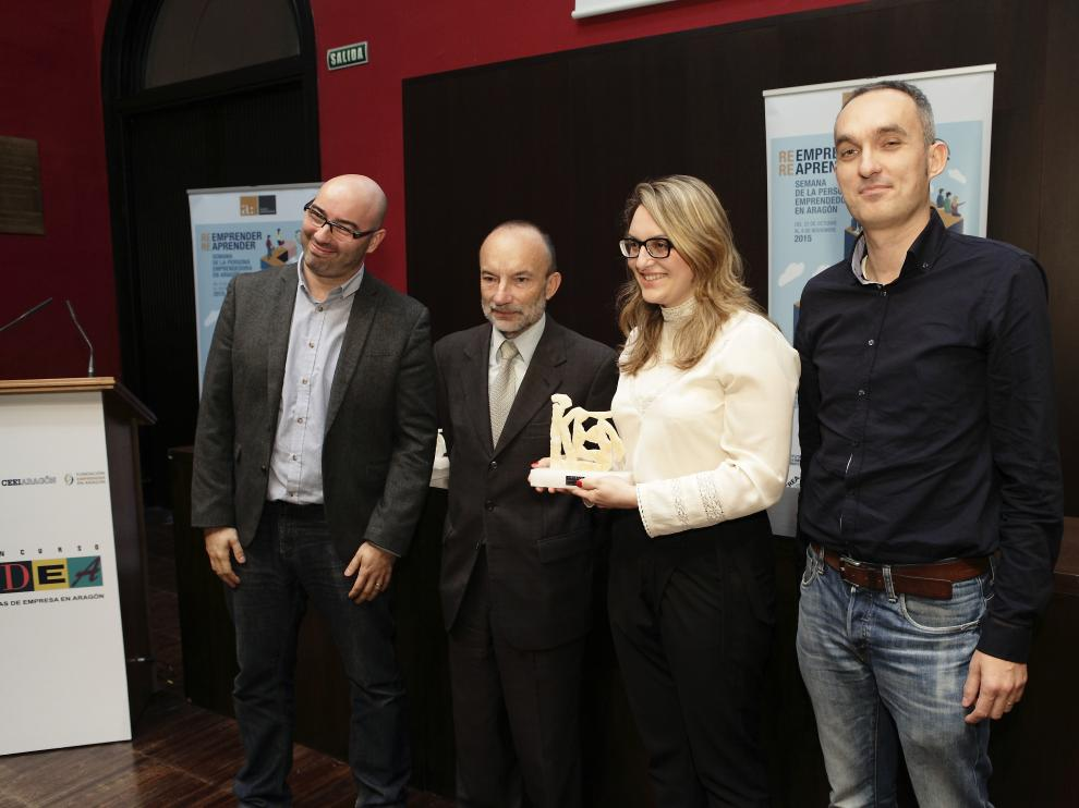 Entrega de los premios del XXII Concurso IDEA de iniciativas empresariales en Aragón