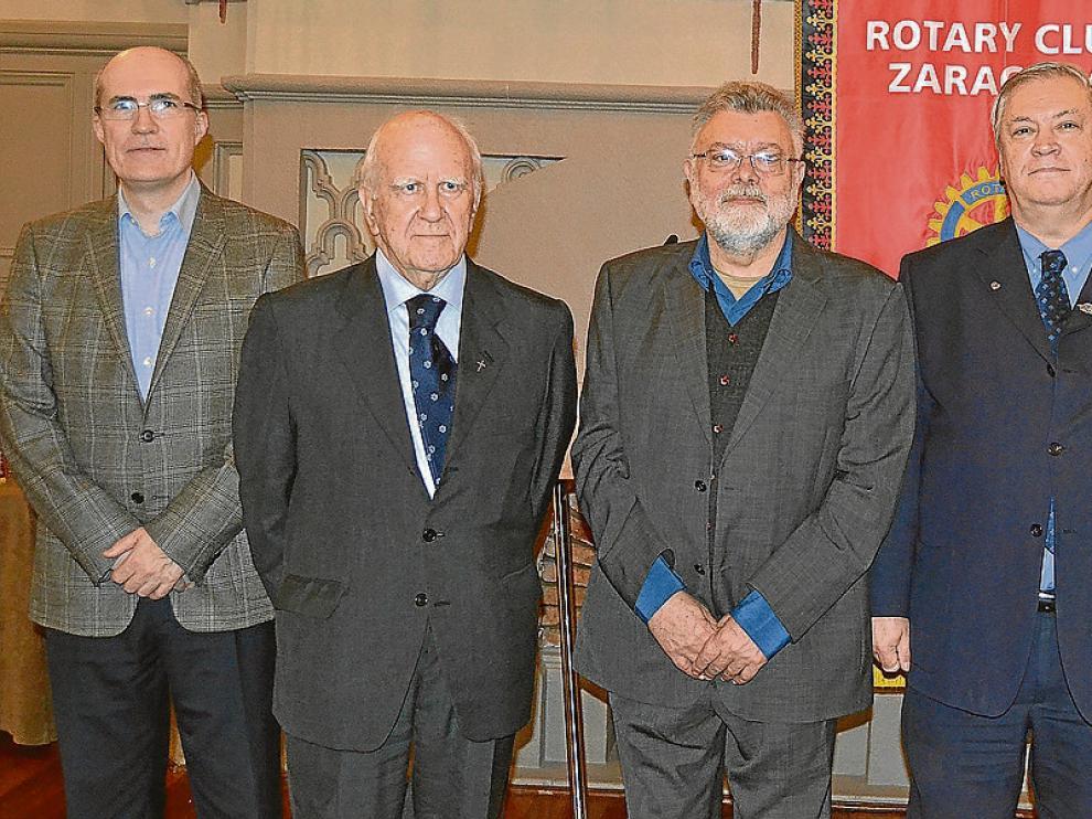 José Luis Romero, Juan Antonio Gracia, Juan Domínguez Lasierra, Pedro Corona y Miguel Ángel Clavero.