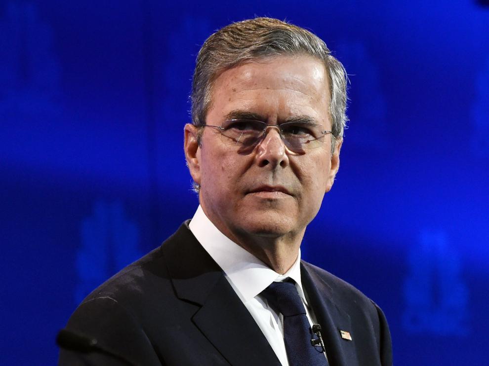 Jeb Bush durante un debate, imagen de archivo.