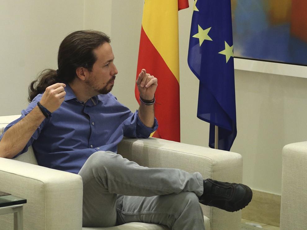 Mariano Rajoy y Pablo Iglesias durante su encuentro.