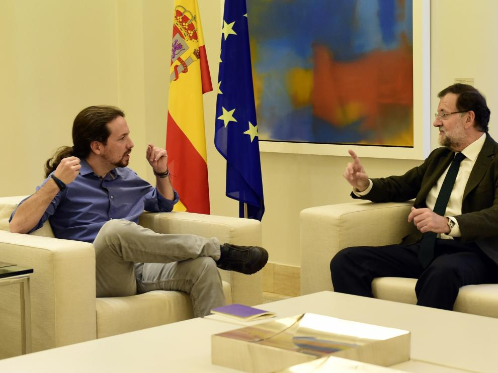 Rajoy recibe a Pablo Iglesias para confrontar sus propuestas sobre Cataluña