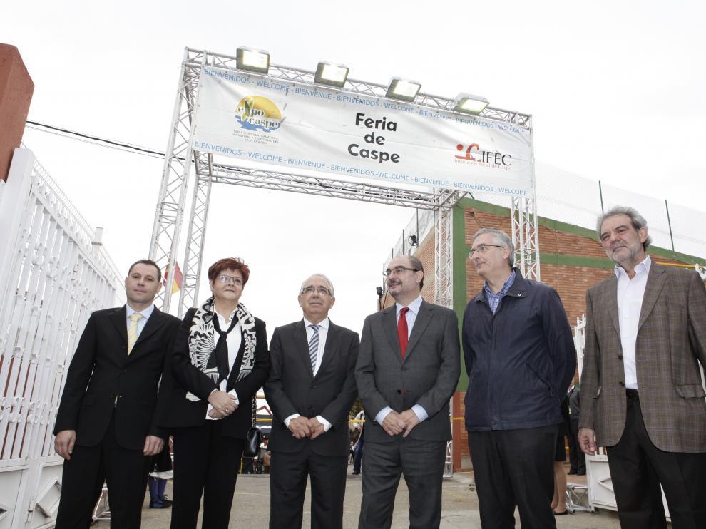 El presidente de Aragón, en la Feria de Caspe