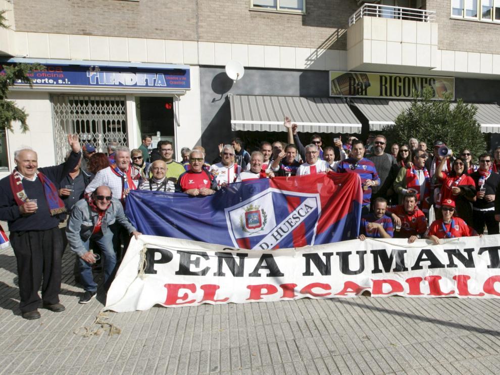 Las peñas de Huesca y Numancia, juntas
