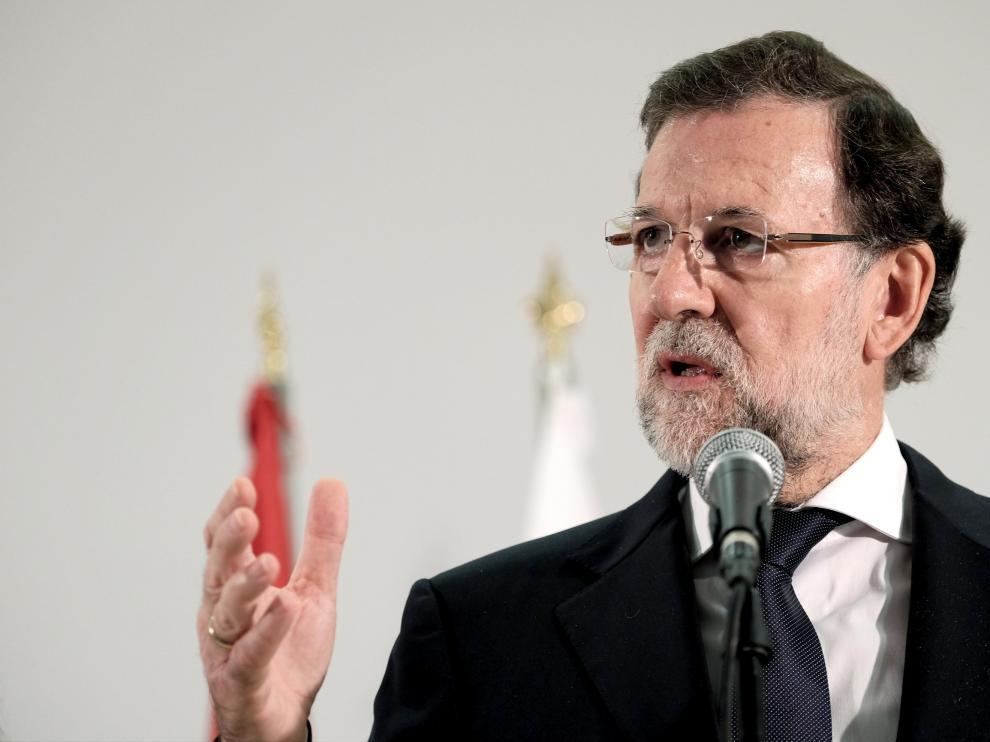 Rajoy, durante su comparecencia