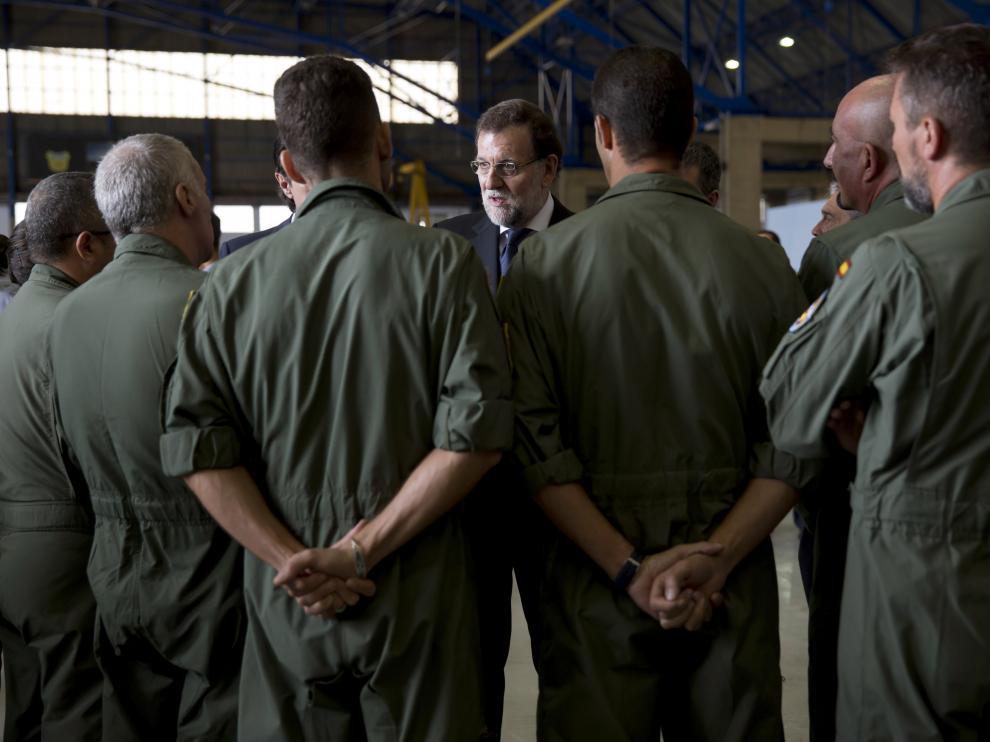 Rajoy se reunió con familiares y miembros de las Fuerzas Armadas
