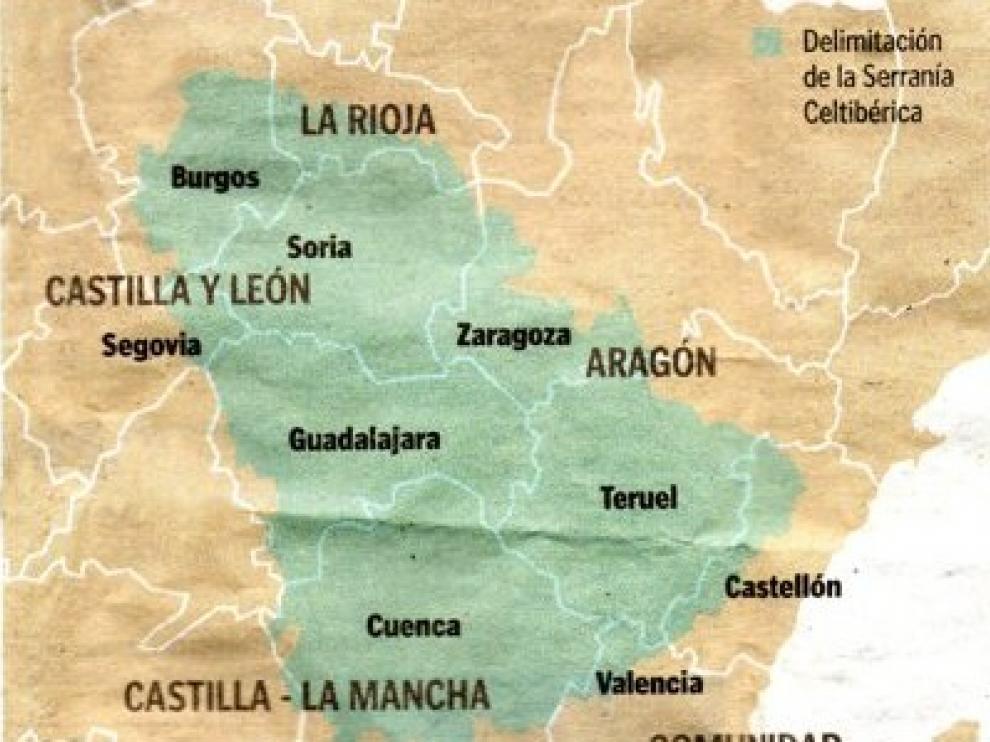 Pueblos De Teruel Mapa De Quemas En Aragon.Una Macrorregion Con Teruel Cuenca O Soria Para Combatir