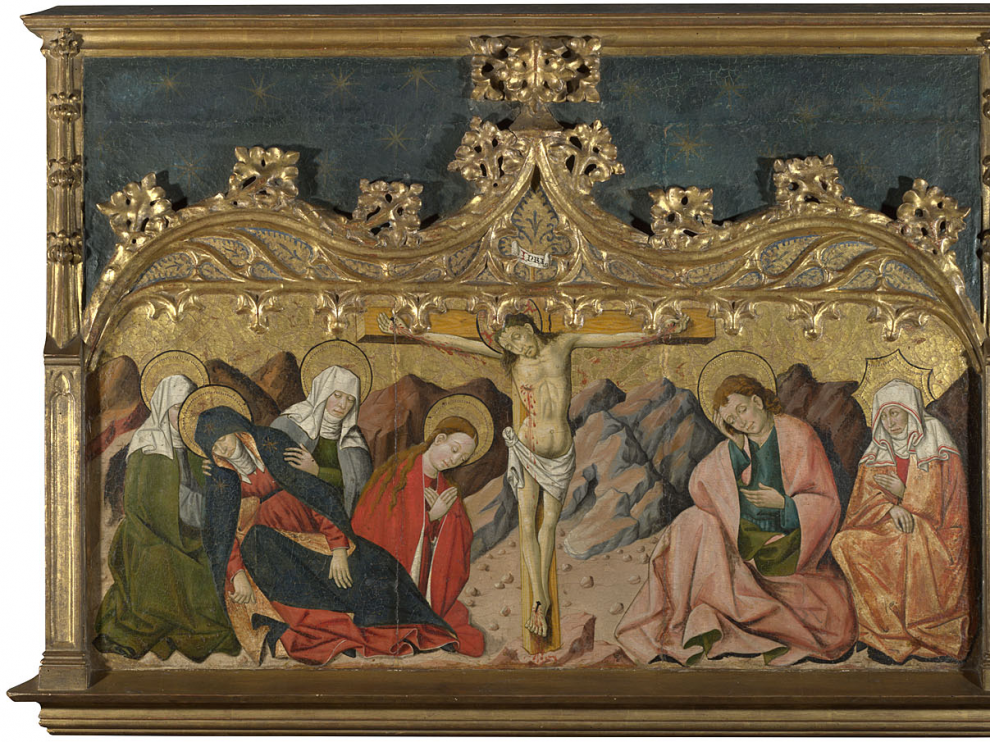 'La Crucifixión', del retablo del siglo XV que salió de la ermita de San Martín de Riglos.