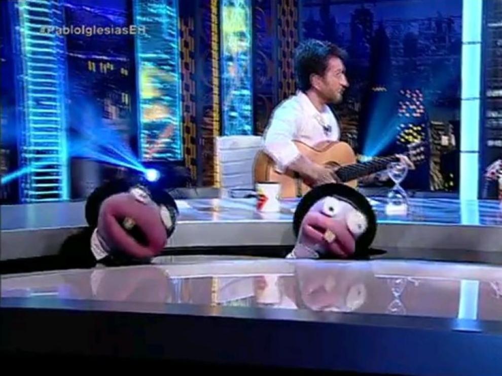 """Iglesias en 'El Hormiguero': """"Si gano las elecciones vuelvo aquí y me suelto la melena"""""""