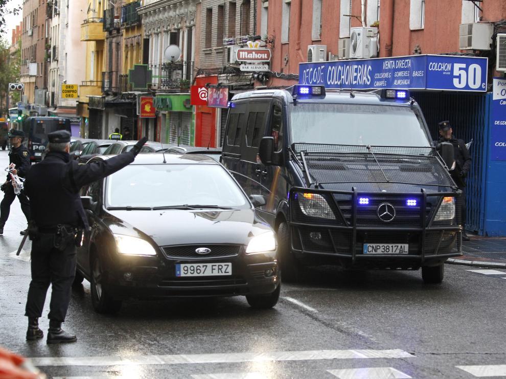 Operación policial llevada a cabo este martes en Madrid.