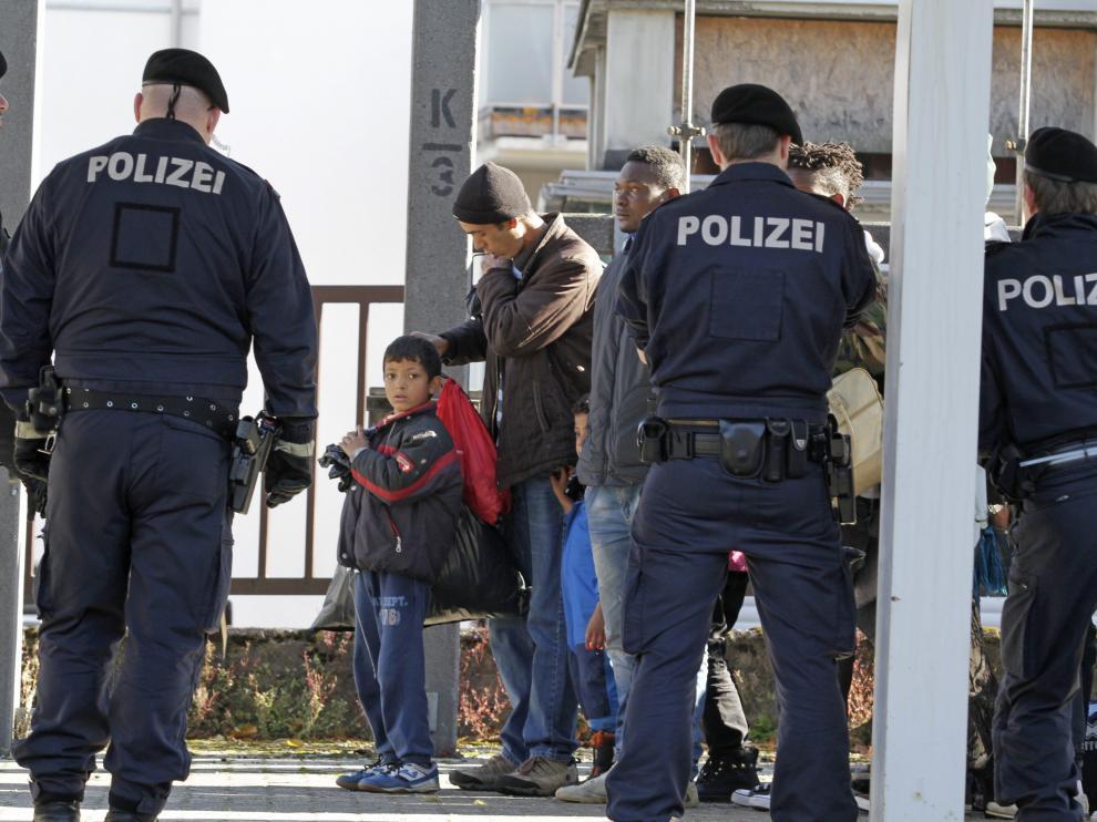 Entrada de refugiados a Alemania, en una imagen de archivo