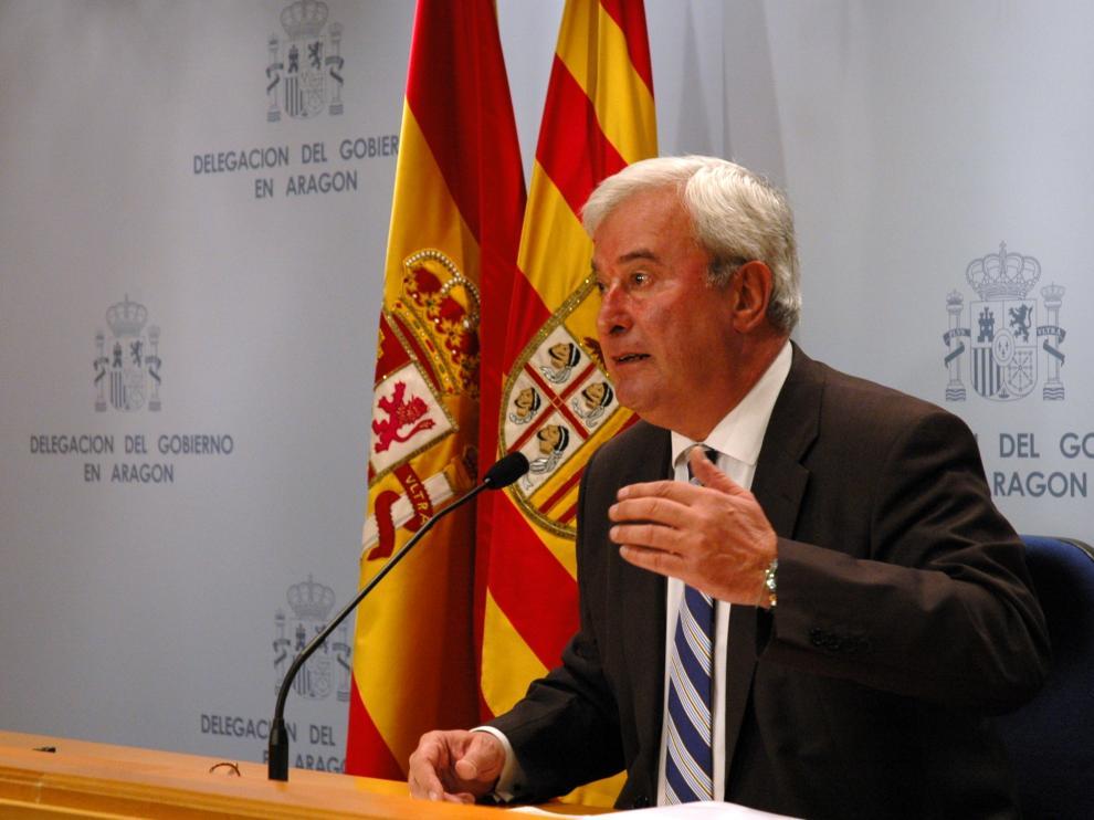 Gustavo Alcalde durante la presentación del Balance de Criminalidad.