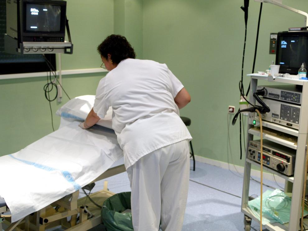 Sala de colonoscopias del hospital Clínico de Zaragoza.