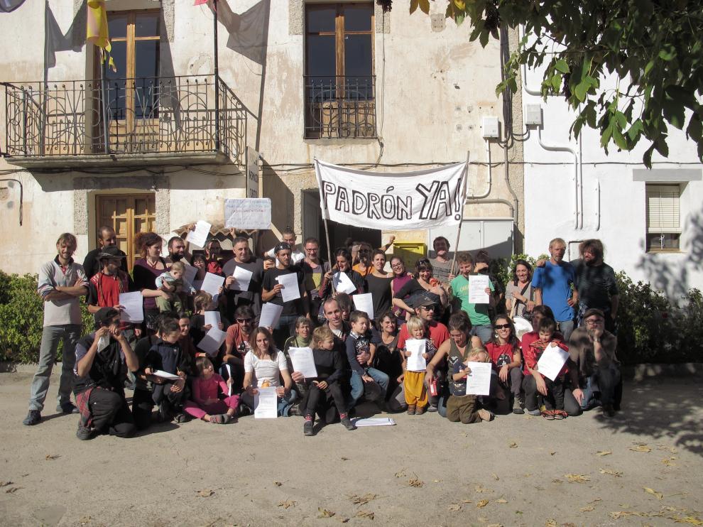 Una de las manifestaciones de los vecinos de Sieso de Jaca en Caldearenas