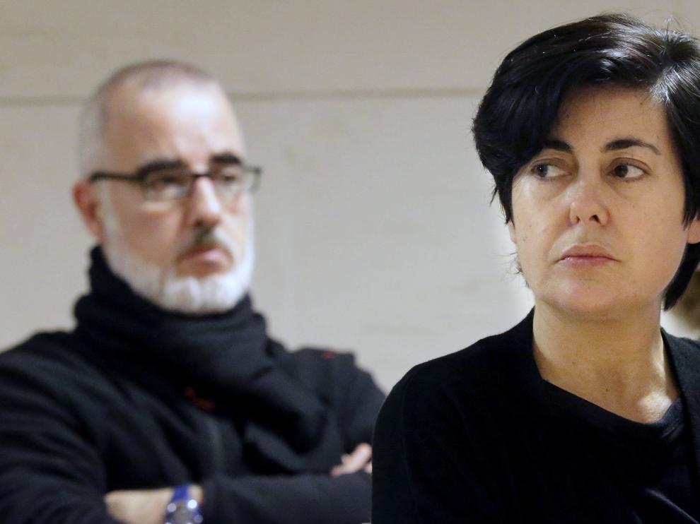 Rosario Porto y Alfonso Basterra en una de las sesiones del juicio por la muerte de su hija Asunta.