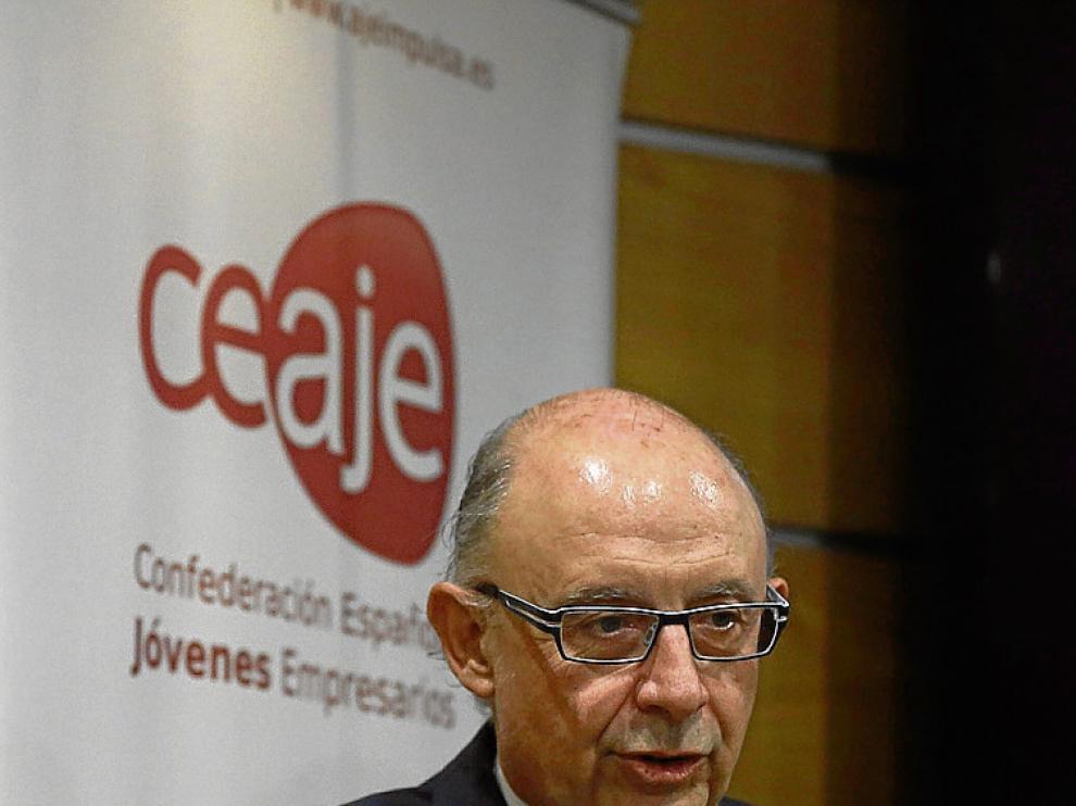 El ministro Cristóbal Montoro, en Madrid.