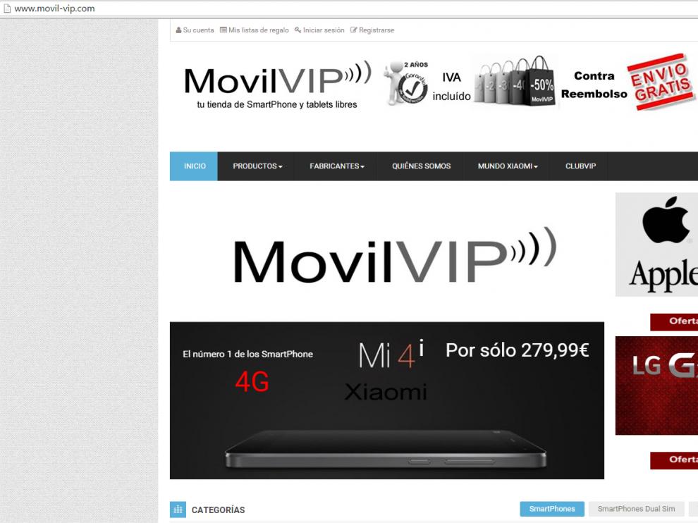 Página web de Alejandro Ferrer.