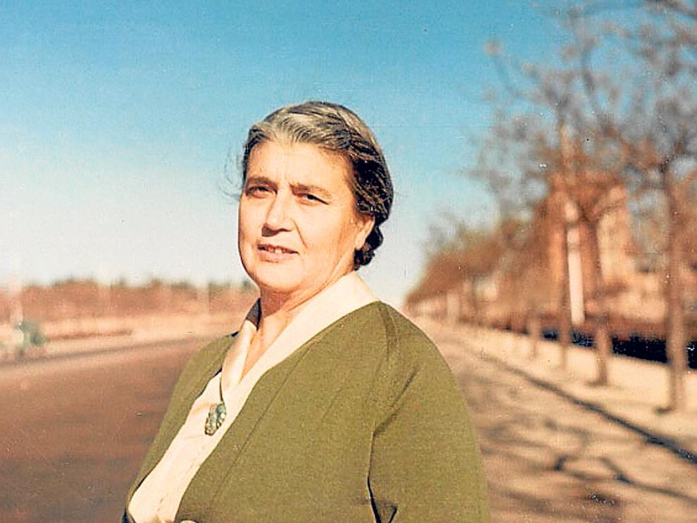 La lexicógrafa aragonesa María Moliner.