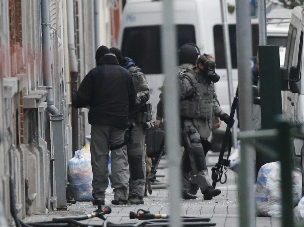 Una de las operaciones policiales llevadas a cabo en Bruselas tras los atentados