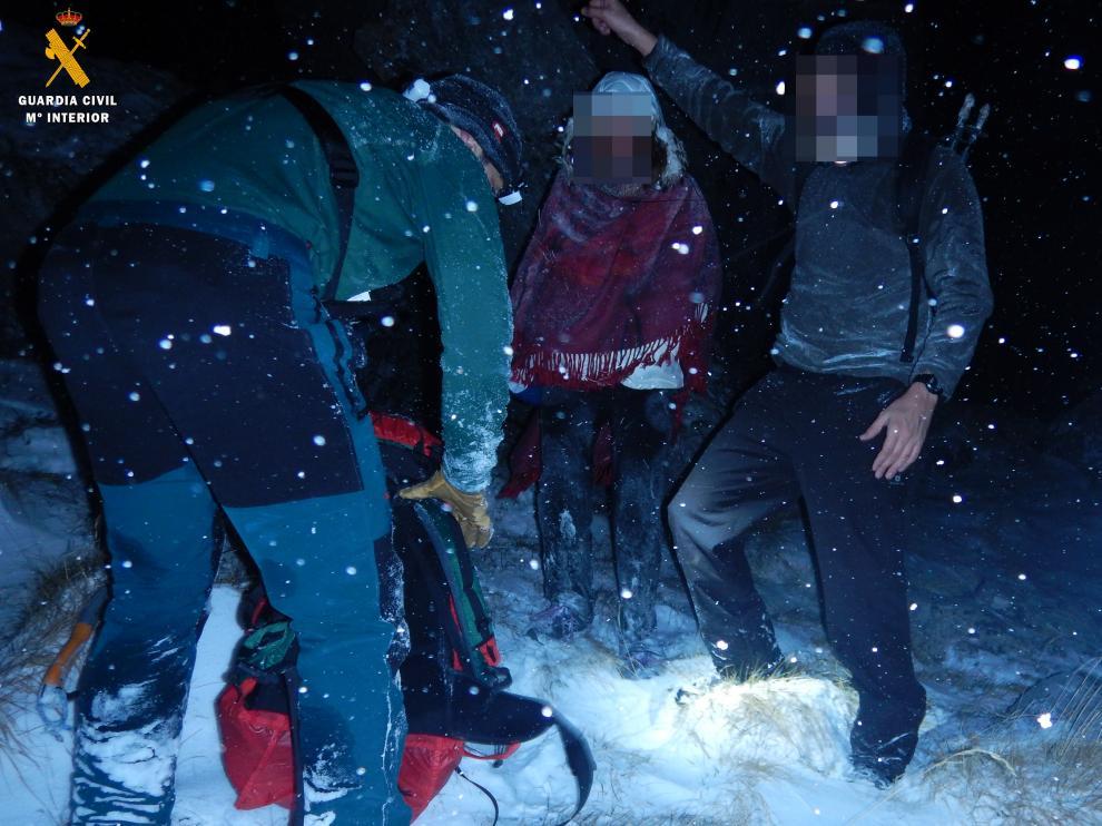 Los rescatados en Ordesa no llevaban ropa de abrigo apropiada
