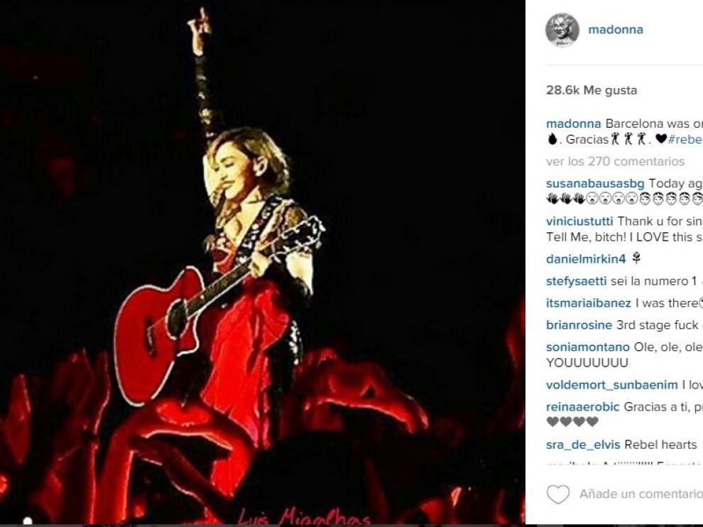 Madonna, en una foto de sus redes sociales