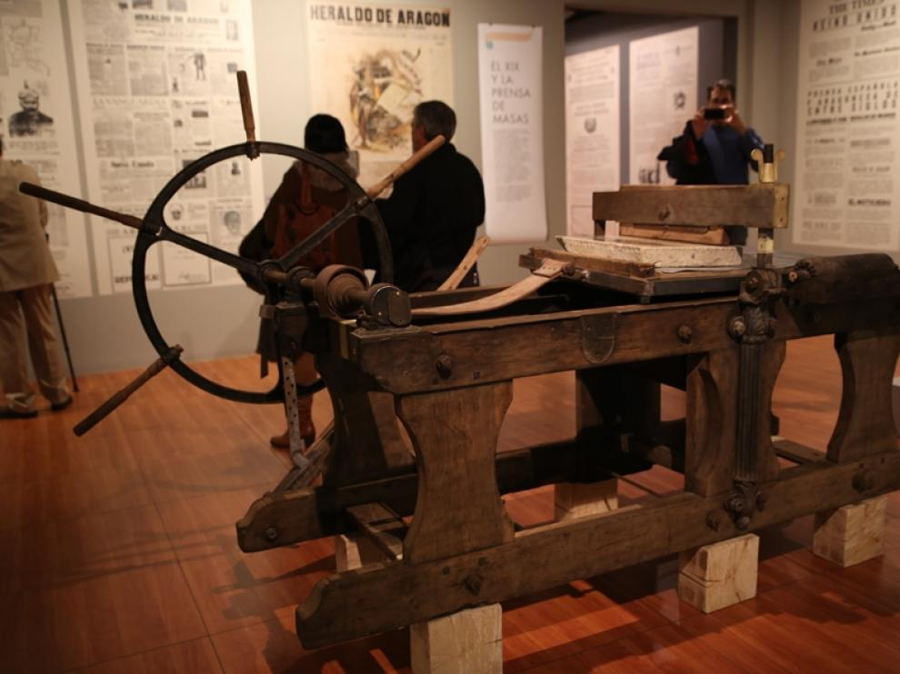 Piezas de la exposición 'De Gutenberg a Twitter'