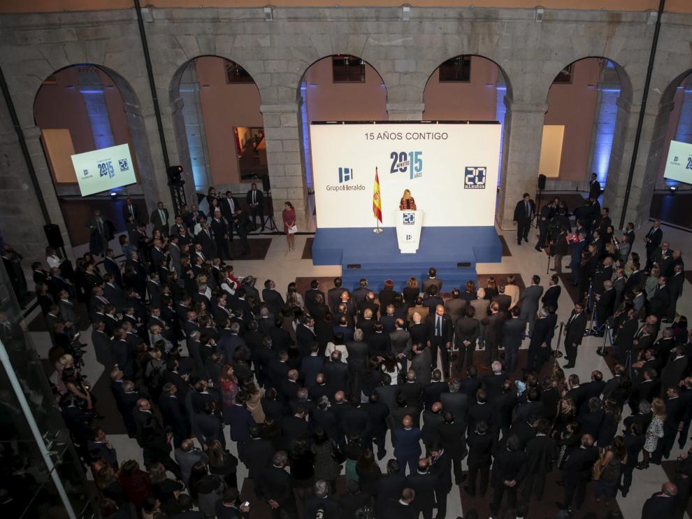 La celebración del XV aniversario de 20minutos tuvo lugar en el patio de la Real Casa de Correos, sede del Gobierno de Madrid.