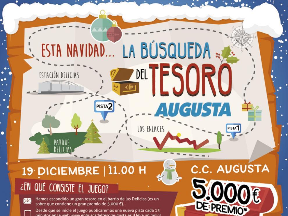 Una divertida 'búsqueda del tesoro' tomará las calles de Zaragoza esta Navidad