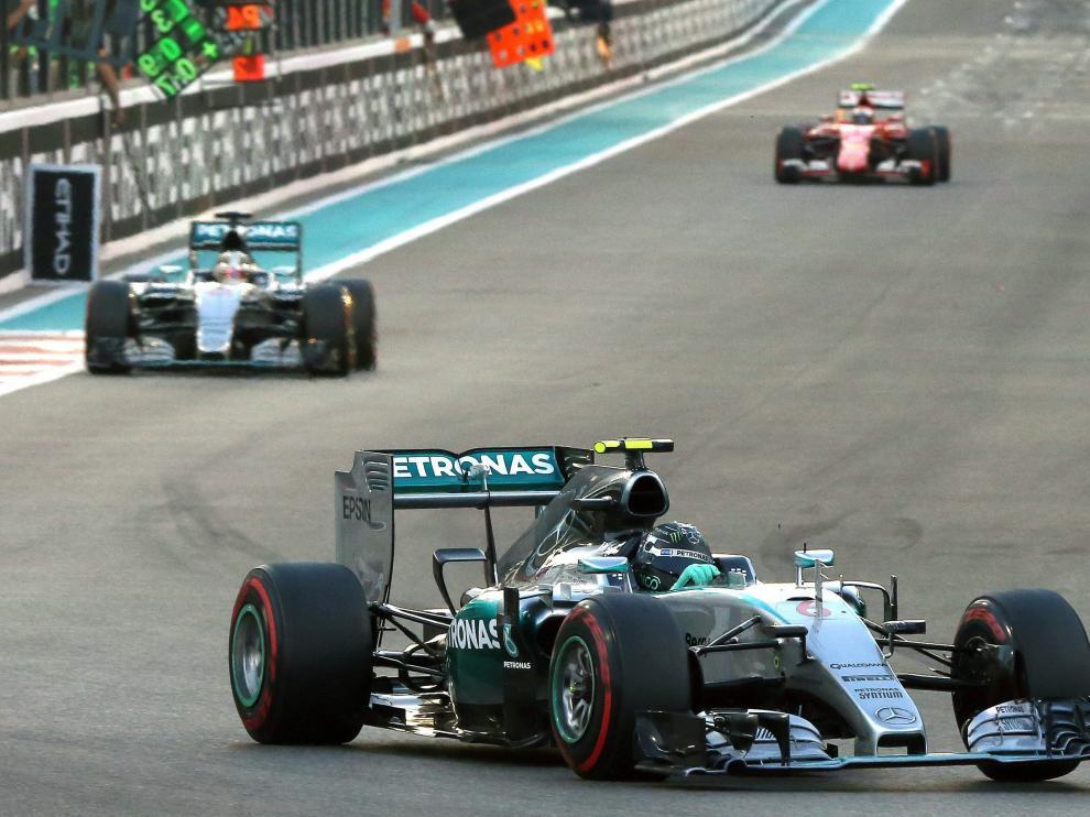 Nico Rosberg en el Gran Premio de Abu Dabi.