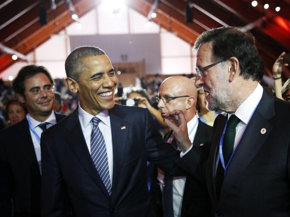 Obama y Rajoy este lunes.