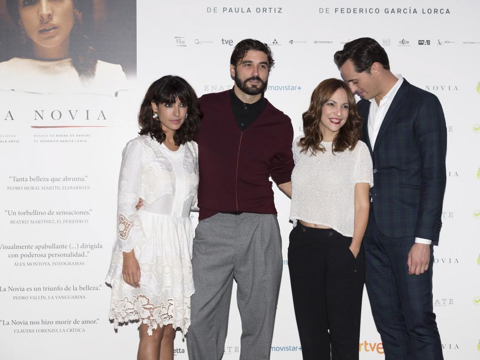De izquierda a derecha: Inma Cuesta, Alex García, Paula Ortiz y Asier Etxeandía