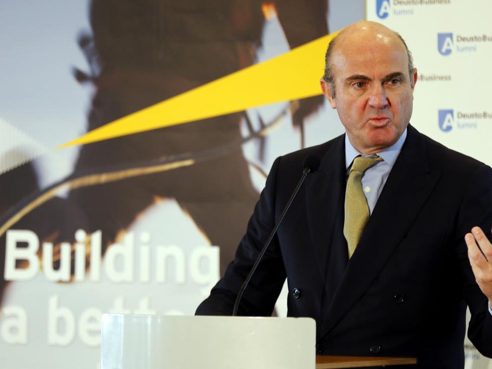 El ministro Luis de Guindos.