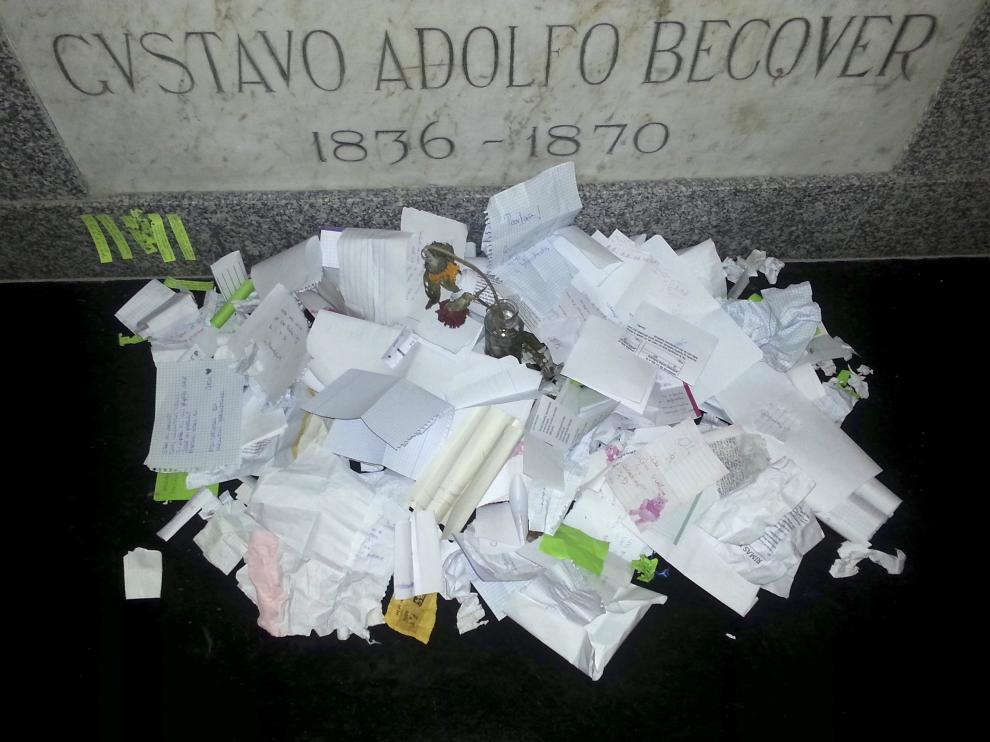 La tumba de Gustavo Adolfo Bécquer en Sevilla