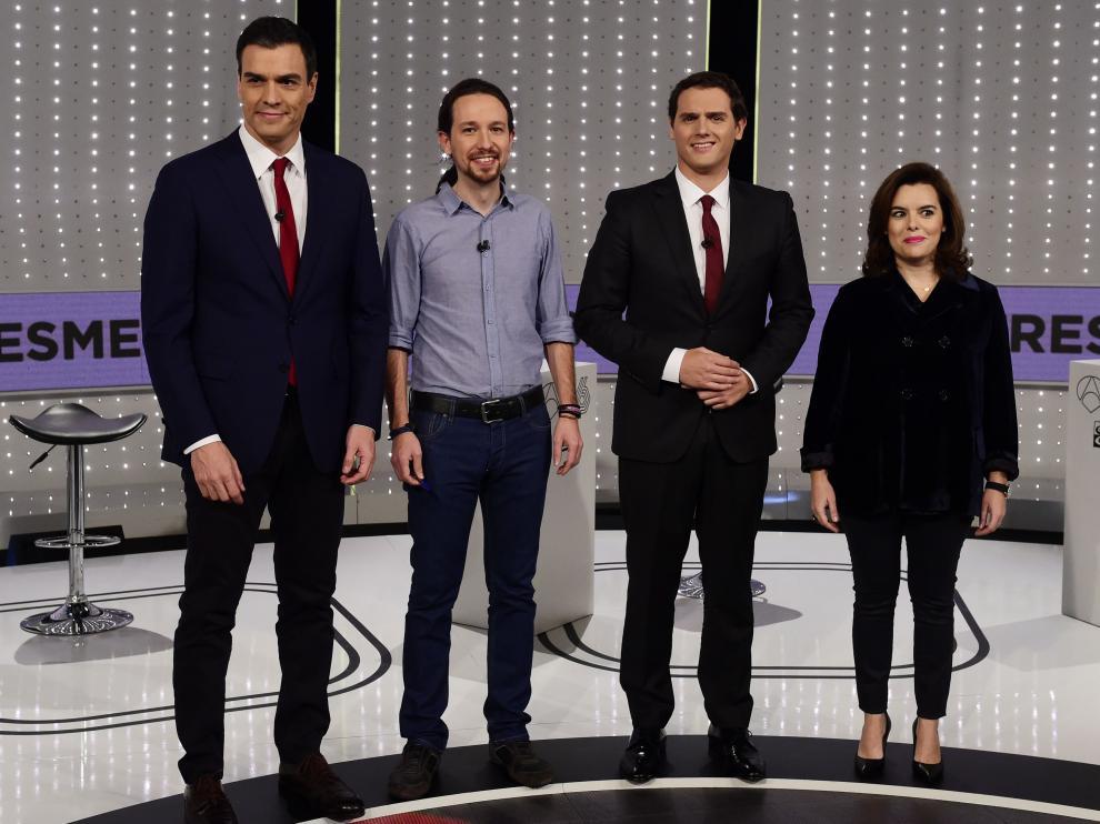 Una imagen del debate a cuatro de las pasadas elecciones generales