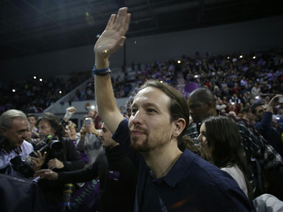Pablo Iglesias en el Pabellón Príncipe Felipe de Zaragoza