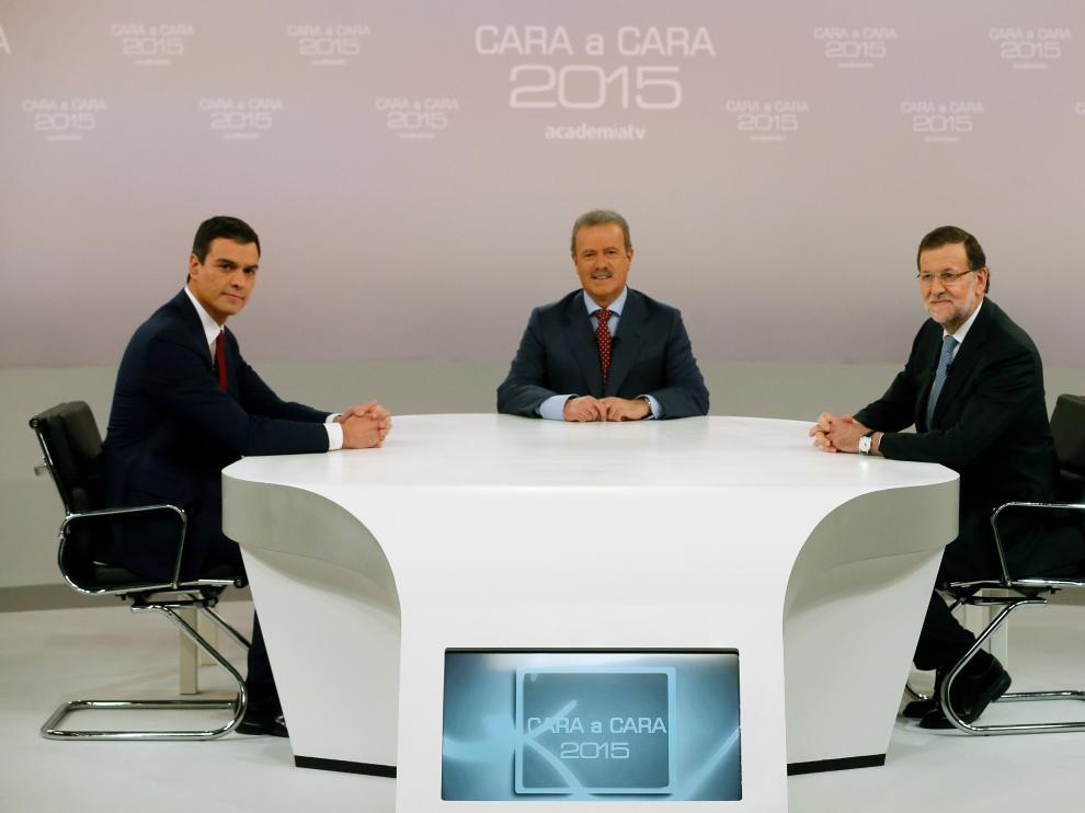 Anterior cara a cara entre Rajoy y Pedro Sánchez, imagen de archivo.