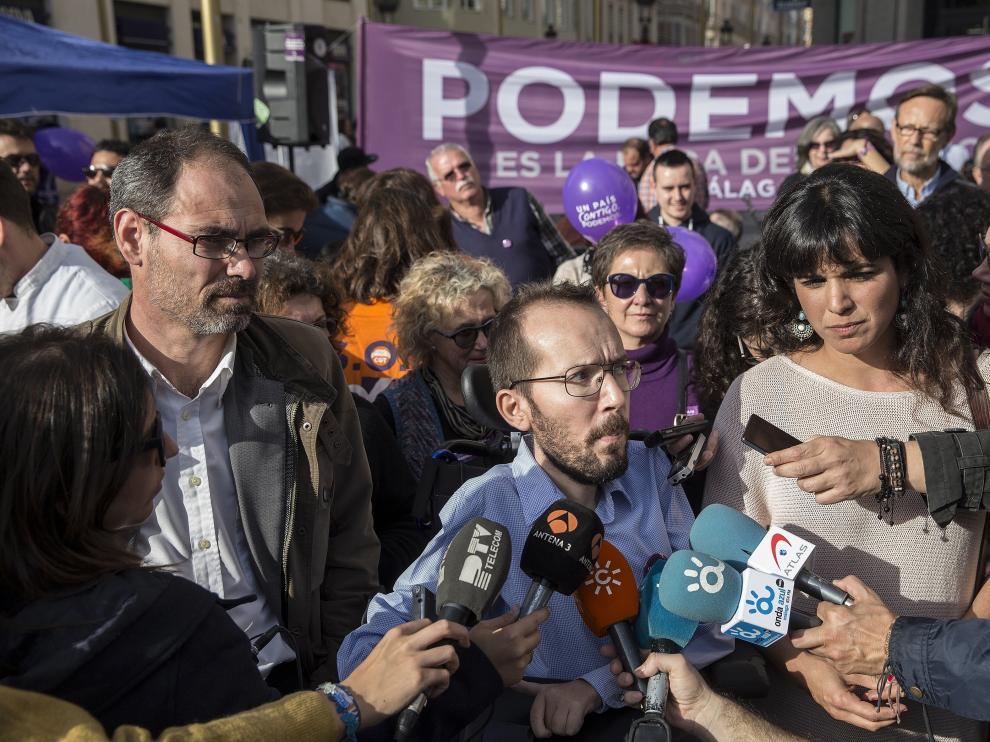 Echenique, durante el acto de Podemos en Málaga