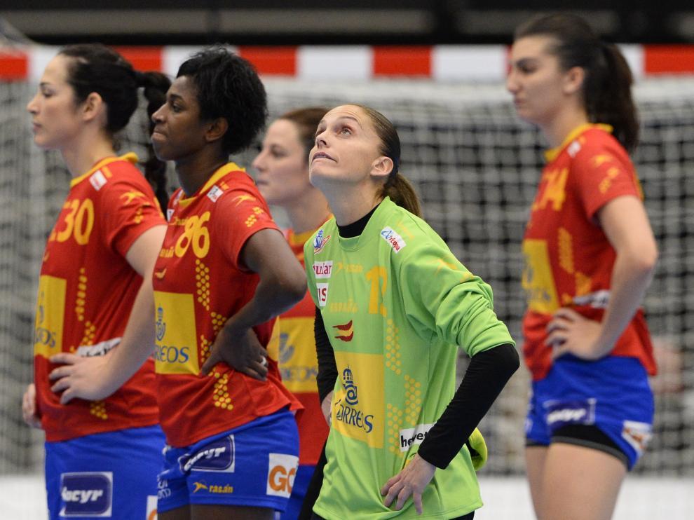 Derrota de la selección española de balonmano ante Francia